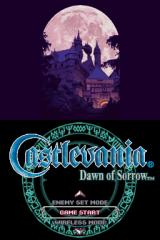 Castlevania: Dawn of Sorrow Nintendo DS Title screen