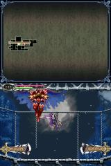 Castlevania: Dawn of Sorrow Nintendo DS Fighting the first boss. He's easy once you figure out what in your arsenal hurts him the most.