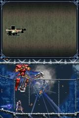 Castlevania: Dawn of Sorrow Nintendo DS Flying armor boss is dead and is being absorbed by the seal.