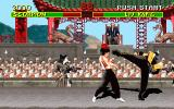 Mortal Kombat DOS Liu Kang vs Scorpion in the courtyard