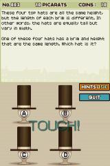 Professor Layton and the Curious Village Nintendo DS Another fairly easy puzzle