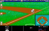 HardBall! DOS A view of the field (EGA)