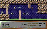 Dark Caves Commodore 64 Destroying walls with the beam weapon takes a while