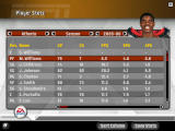 NBA Live 07 Windows Player stats screen