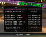 Tony Hawk's American Wasteland Windows Game Progress screen