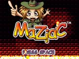 Maziac Windows Title screen. Note the different number of fingers on the two different hands.