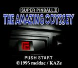 Super Pinball II: The Amazing Odyssey SNES Title screen