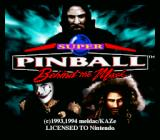 Super Pinball: Behind the Mask SNES Title screen
