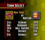 NBA Live 95 SNES Select your favorite team.
