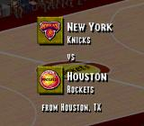NBA Live 95 SNES Our match tonight: Knicks vs. Rockets.