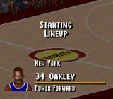 NBA Live 95 SNES Players are introduced before the game starts.