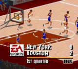 NBA Live 95 SNES Small lead for the Rockets