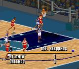 NBA Live 95 SNES From time to time statistics are displayed.