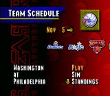 NBA Live 95 SNES There is a season mode, too.