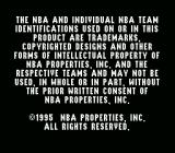 NBA Live 96 SNES Copyright notice