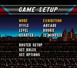 NBA Live 96 SNES Main menu