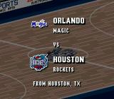 NBA Live 96 SNES Tonight's match: Magic vs. Rockets