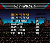 NBA Live 96 SNES Rules like backcourt violation can be modified.