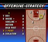 NBA Live 96 SNES Assign strategies to specific buttons.