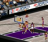 NBA Live 96 SNES Different home team, different floor