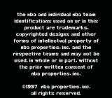 NBA Live 98 SNES Copyright notice