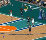 NBA Live 98 SNES Trying to make the shot.
