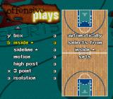 NBA Live 98 SNES Assign strategies to a button.