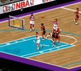 NBA Live 98 SNES Colors vary with the home team.