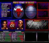 NBA Hang Time SNES Choose a team and players.