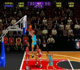 NBA Hang Time SNES The game focuses on action-loaded dunks.