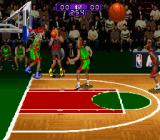 NBA Hang Time SNES Attempt to shoot a 3-pointer.