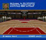 NBA Showdown SNES The commentator announces the line-up.