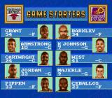 NBA Showdown SNES The line-up for tonight's game