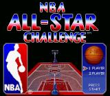 NBA All-Star Challenge SNES Main menu