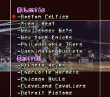NBA All-Star Challenge SNES Select a team.