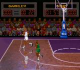 NBA All-Star Challenge SNES There are nice reflections on the floor.