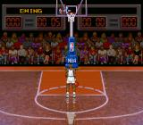 "NBA All-Star Challenge SNES Watch the cross move an press the ""throw"" button at the right moment."