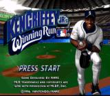 Ken Griffey Jr.'s Winning Run SNES The game's title screen, featuring You-Know-Who.