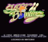 Super Bowling SNES Title screen