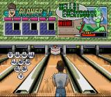 Super Bowling SNES Position yourself, aim and select power.