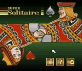 Super Solitaire SNES Main menu
