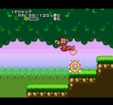 Super Chinese World 3 SNES A jump kick shows this enemy.