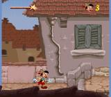 Pinocchio SNES Level one: going to school.