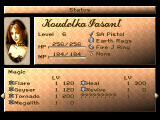 Koudelka PlayStation Stats and spells