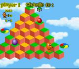 Q*Bert 3 SNES Isometric view