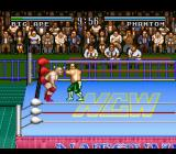 Natsume Championship Wrestling SNES Hard hit to the head