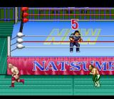 Natsume Championship Wrestling SNES Running around the ring.