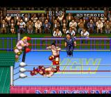 Natsume Championship Wrestling SNES No mercy - even when he's already on the floor.