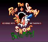 The Ren & Stimpy Show: Buckeroo$! SNES Title screen