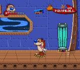 The Ren & Stimpy Show: Buckeroo$! SNES On a teleporter